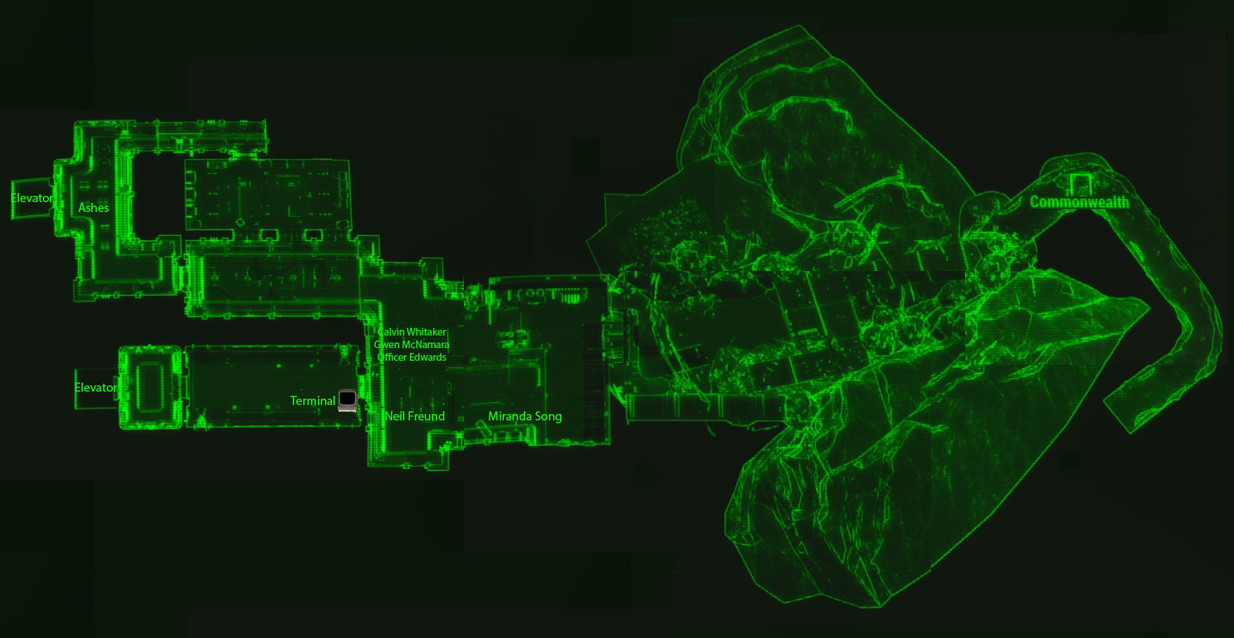 Vault 81 entrance map