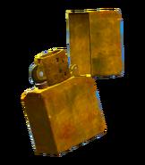 Gold plated flip lighter