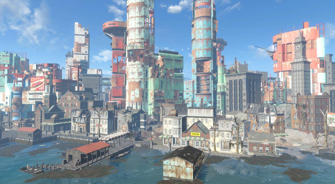 Boston harbor fallout wiki fandom powered by wikia - Fallout new vegas skyline ...