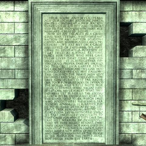 Текст промови Лінкольна на стіні меморіалу