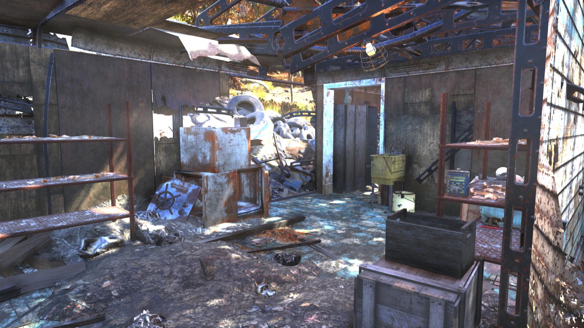 FO76 safecracker's shack interior