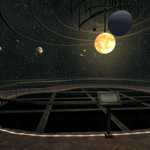 Display of the solar system in REPCONN Headquarters