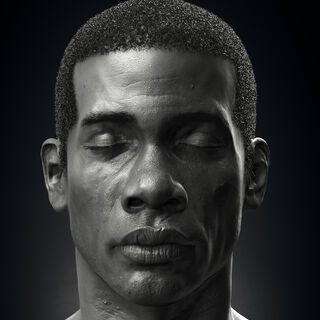 Preston Garvey render frontal view, by <a class=