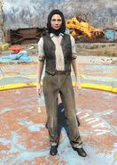 FO4 Black Vest and Slacks female