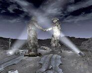 Pomnik nocą
