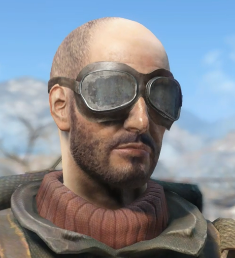 FO4 Road Goggles on clear head