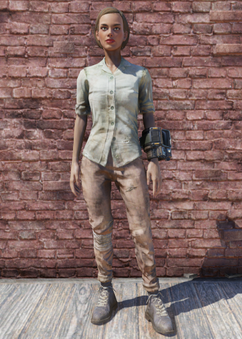 FO76 Green Shirt and Combat Boots