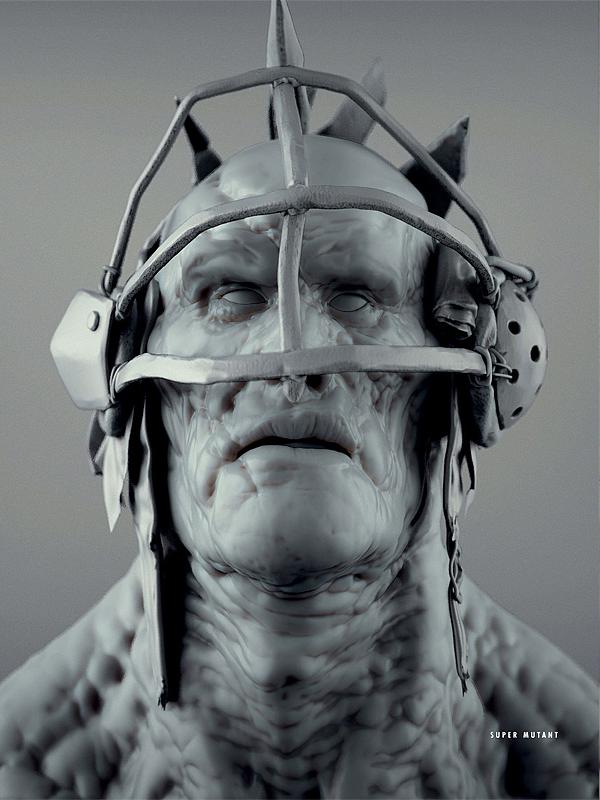 Fo4 clay super mutant concept art