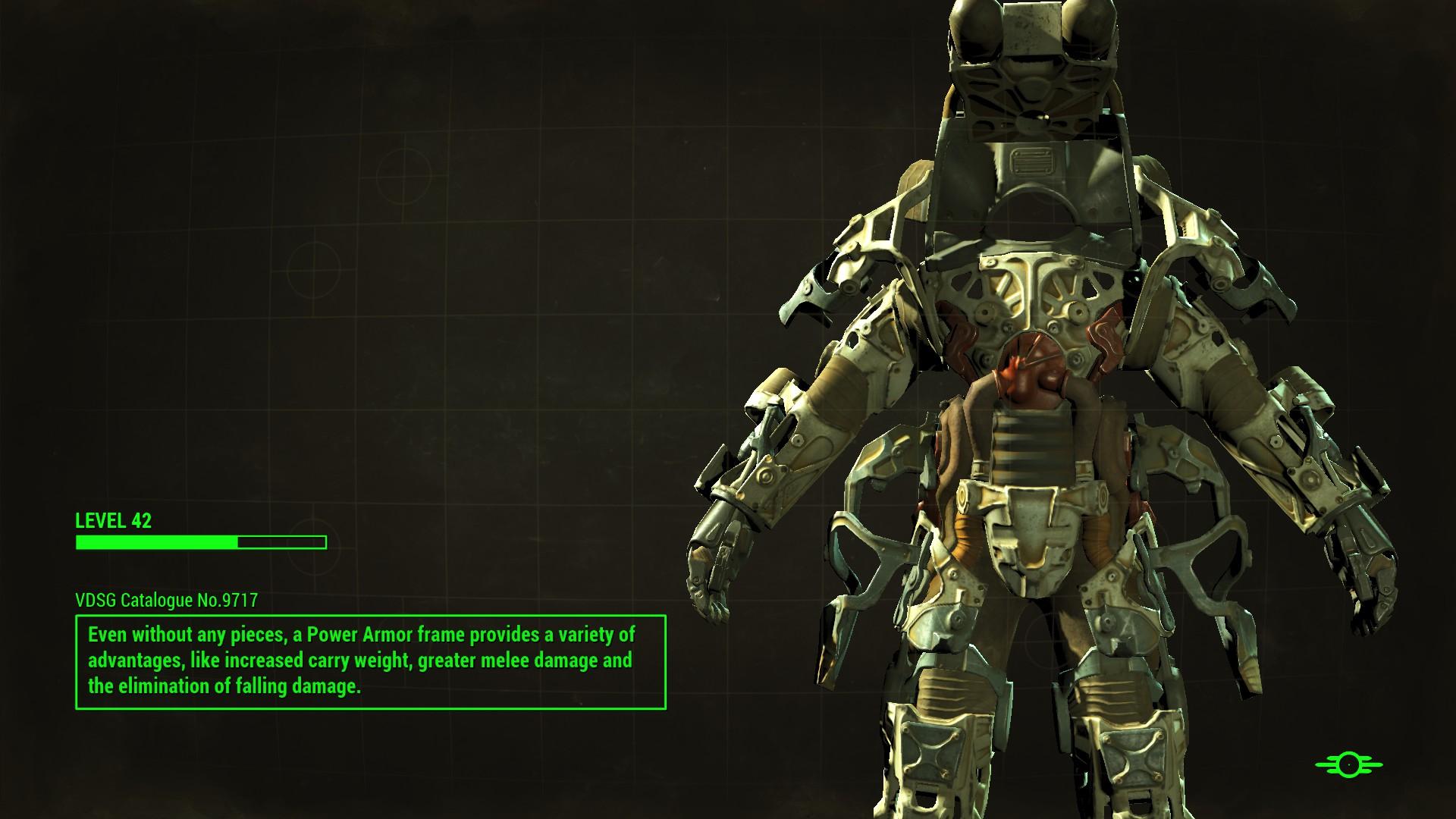 Front power armor frame