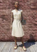 FO76 Laundered Cream Dress