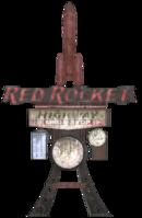 FO76 Red Rocket Mega Stop sign
