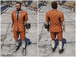 FO76ATX Короткий костюм «Джек-фонарь»