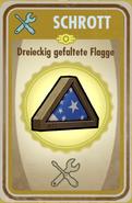 FOS Karte - Dreieckig gefaltete Flagge