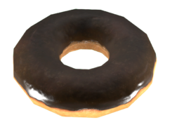 Fo4CC Chocolate glazed donut