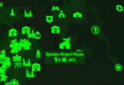 Boston Airport ruins map