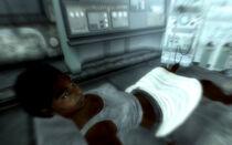 Catherine in labor ward 01