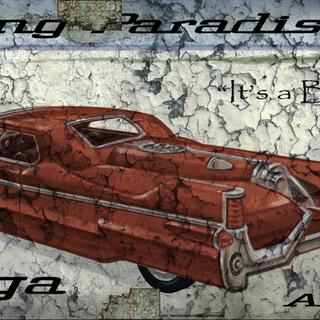Рекламний плакат моделі <i>Atomic V-8</i>