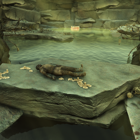 An altar located at the bottom of Big Maw.