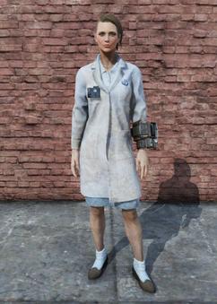 FO76 Brotherhood Lab Coat Female
