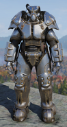 Fallout 76 X-01 standard power armor front
