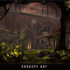 """概念图:""""地下都市"""""""