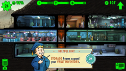Fallout Shelter storage room expands