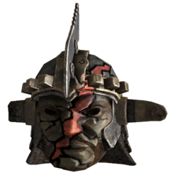 Marked beast face helmet