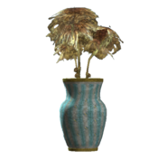 Teal vaulted vase