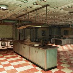 The diner in the atrium