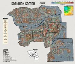 Fo4 Survival Guide The Boston world map (ru)