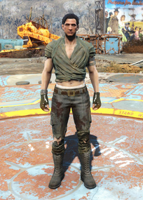 Fo4 Wrap and Ripped Jeans