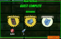 FoS Knock 'Em Down rewards