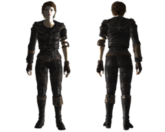 Lightweight leather armor female