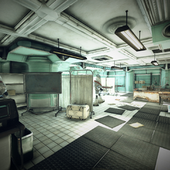 The bunker's medical bay