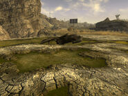 FNV Wrecked Highwayman View-south