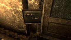 FO3 casa de Carol cartel entrada