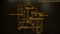 REPCONN Office top floor map