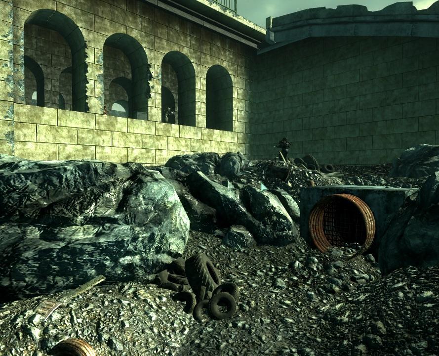 County sewer mainline Capital Wasteland entrance