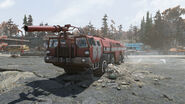 FO76 Red Rocket Mega Stop (Fire truck)