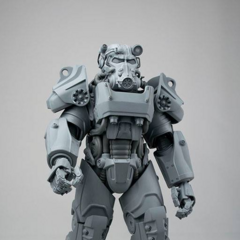 A sculpt of an action figure by Threezero