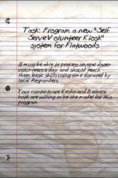 Flatwoods kiosks note
