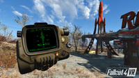 Fallout 4 VR Pip-Boy pre-release screen