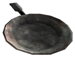 Metal cooking pan