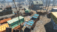 FO4 Big John salvage blue vagon