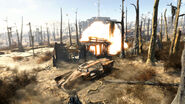 FO4 Moonshiner's Cabin (explosion)