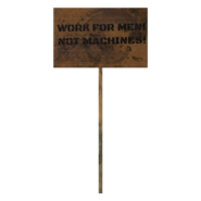 Fallout 76 Protest Sign 9 Men Not Machines