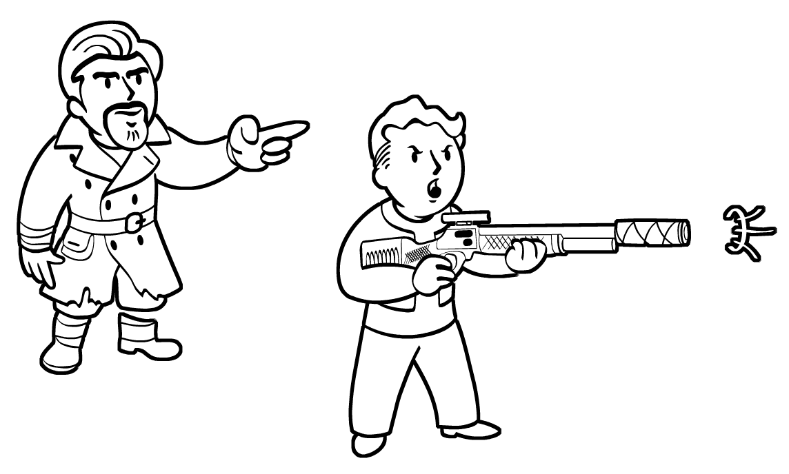 Fallout  Sniper Coloring Pages