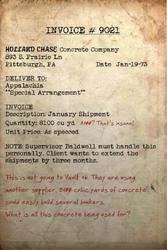 Holland Case invoice 9021