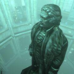 The statue inside the Rotunda
