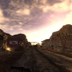 The Mojave Outpost in the evening